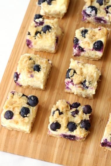 Lemon Blueberry Cheesecake Bars.